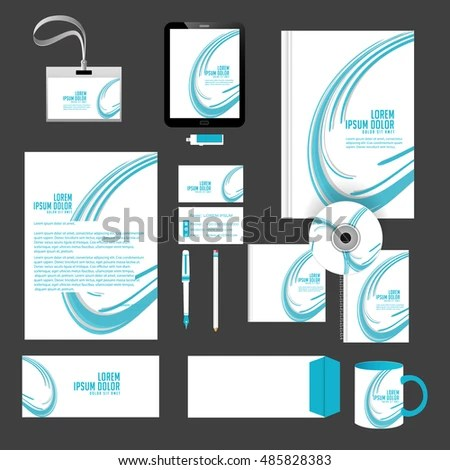 Creative Vector Templates Office Stationery Nice Stock Vector (2018 - Nice Templates