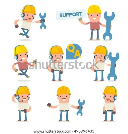 50 Poses Characters Help Support Symbols Stock Vector 495996433 - help and support