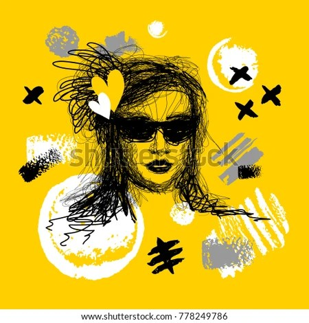 Fashion Poster Trendy Art Design Yellow Stock Vector 778249786 - fashion poster design