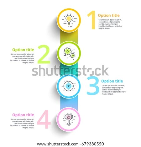 Business Process Chart Infographics 5 Step Stock Vector 680890972 - company flow chart template