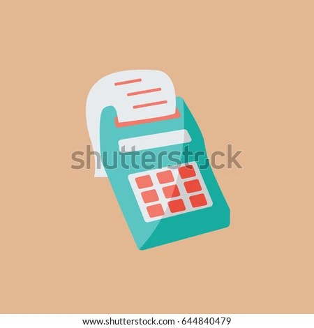 One Single Simple Cash Desk Calculator Stock Vector 644840479 - simple credit card calculator