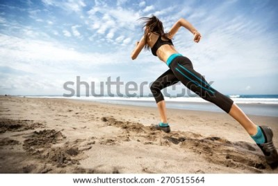 Running Woman Female Runner Jogging During Stock Photo ...