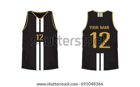 Tshirt Yellow Black Basketball Football Template Stock Vector - black and white basketball template