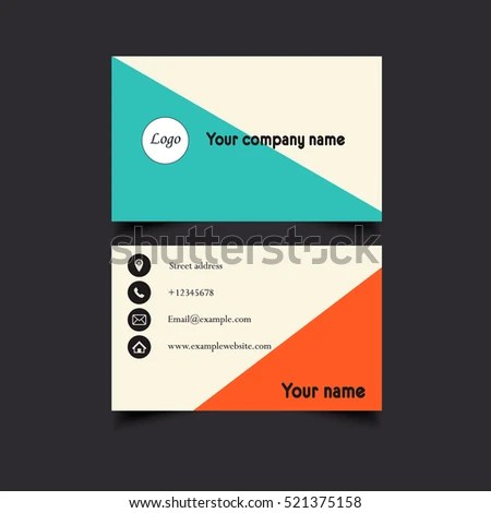 Black White Design Typography Name Card Stock Vector 465942917 - name card example