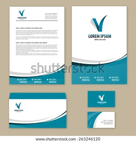 Letterhead Template Stock Images, Royalty-Free Images \ Vectors - corporate letterhead template