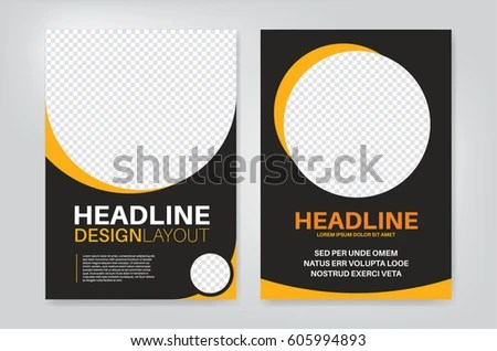 Vector Layout Design Template Leaflet Poster Stock Vector 605994893 - pamphlet layout template