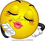 Blowing Kisses Smiley Face Clip Art