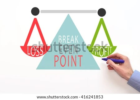 Breakeven Analysis Breakeven Graph Break Even Stock Photo (Edit Now