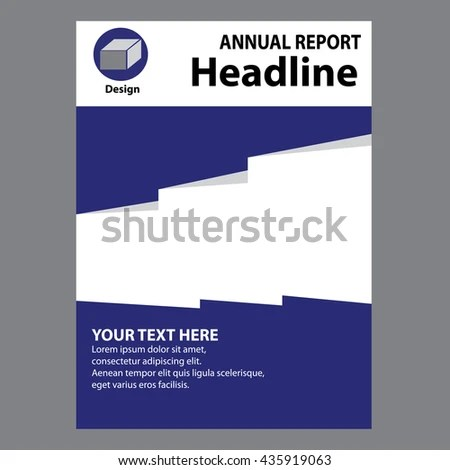 Blue Annual Report Title Page Sample Stock Vector (Royalty Free