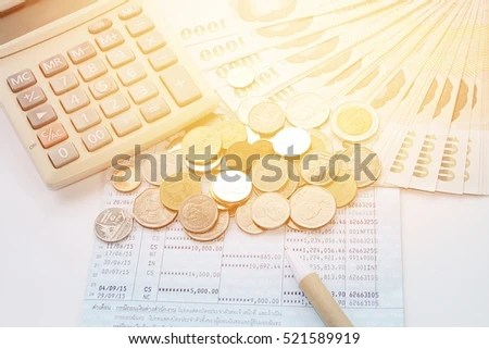 Business Finance Investment Savings Mortgage Background Stock Photo