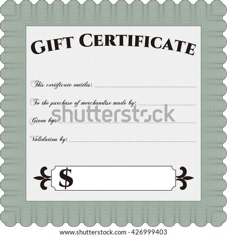 Retro Gift Certificate Template Artistry Design Stock Vector HD - gift certificate templete