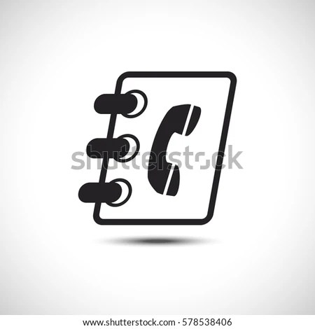 Isolated Phonebook Address Book Flat Web Stock Vector 578538406 - phonebook by address
