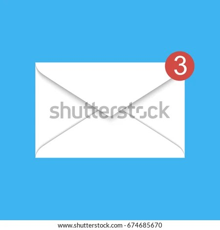 Vector New Email Notification White Mail Stock Photo (Photo, Vector - mail background