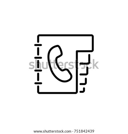 Phone Book Icon Telephone Contact List Stock Vector (Royalty Free - business phone book