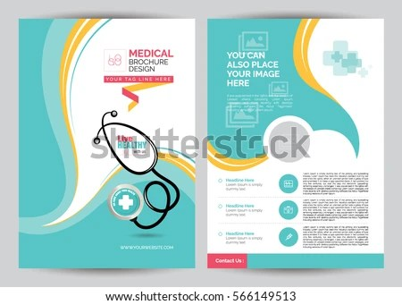 A 4 Medical Brochure Design Template Front Stock Vector (Royalty - medical brochure