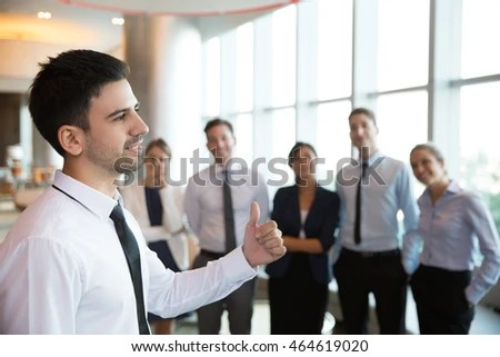 Successful Male Executive Manager Team Stock Photo (Royalty Free