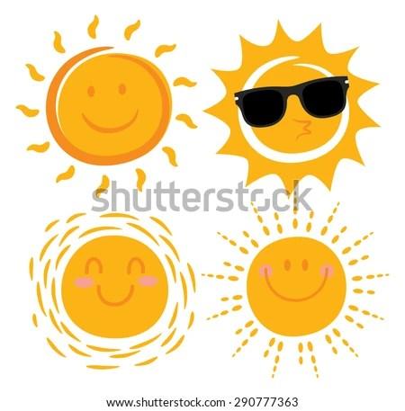 Download Cute Images For Wallpaper Various Smiling Sun Cartoon Stock Vector 290777363