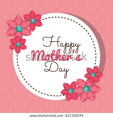 Mothers Day Card Design Vector Illustration Stock Vector 254048200