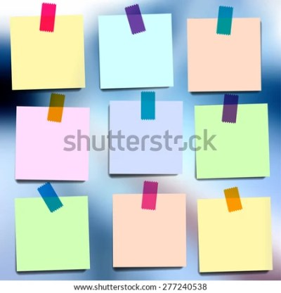 Sticky Notes Wallpapers On Blurred Vector Stock Vector 277240538 - Shutterstock