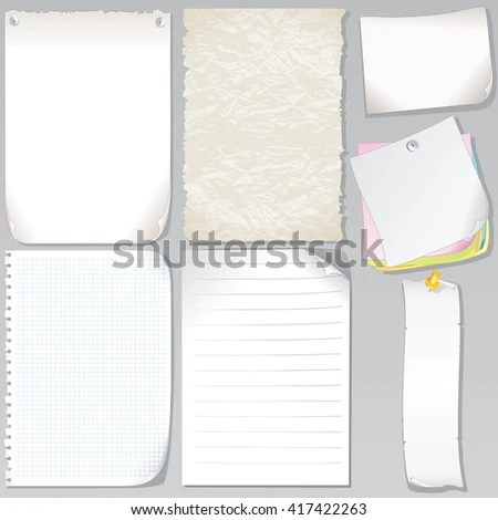 Vector Old Paper Sheets Graph Paper Stock Vector (2018) 417422263