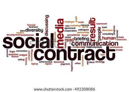 Social Contract Word Cloud Concept Stock Illustration 492308086 - contract word