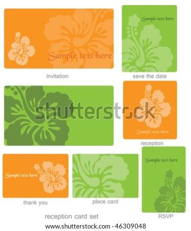 Editable Wedding Template Set Stock Vector 46309048 - Shutterstock