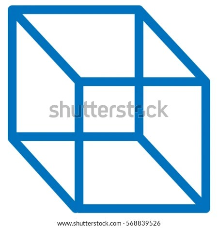 Simple 2 D Cube Drawing 3 D Cube Stock Vector (Royalty Free