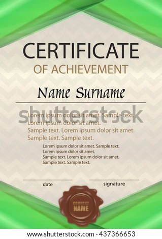 10+ Certificate Of Achievement Template Letter Template WordSample