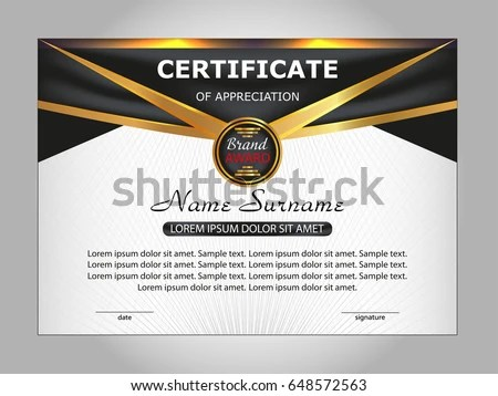 Template Certificate Appreciation Elegant Design Vector Stock Vector - sample certificate of appreciation