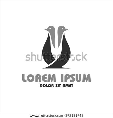Penguin Template Logo Stock Vector 392131963 - Shutterstock - penguin template