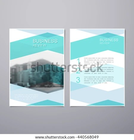Business Review Leaflet Brochure Flyer A4 Stock Vector 440568049 - business review template
