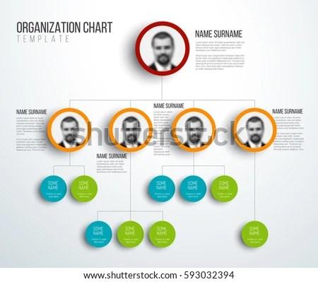 Minimalist Company Organization Hierarchy Chart Template Stock