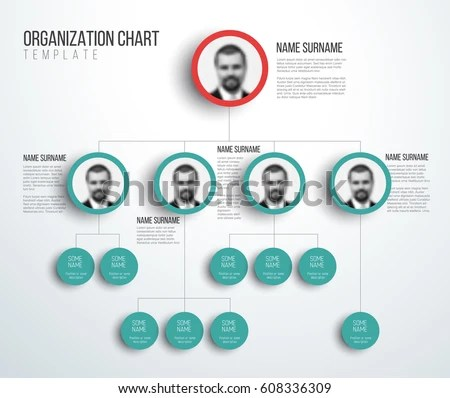 Minimalist Company Organization Hierarchy Chart Template Stock Photo - company chart template