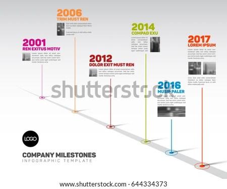 Vector Infographic Company Milestones Timeline Template Stock Vector - timeline template
