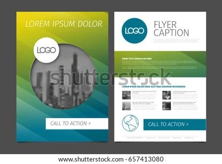 Modern Business Brochure Flyer Vector Template Stock Vector - sample business brochure