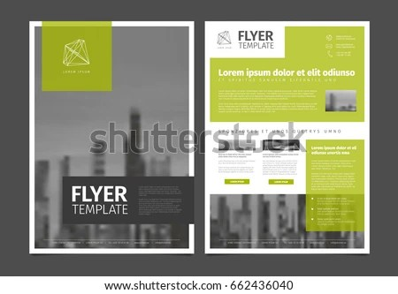 Modern Business Corporate Brochure Flyer Design Stock Vector - flyers design samples