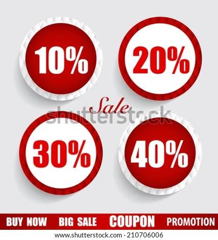 Sale Coupon Voucher Tag Sticker Modern Imagem Vetorial De Banco - sale tag template