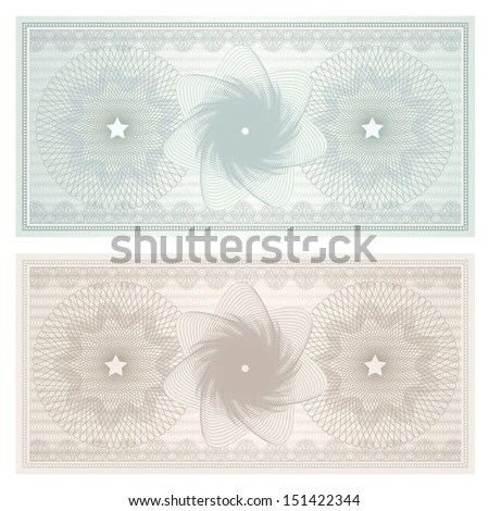 Gift Certificate Voucher Coupon Template Blue Stock Illustration - money coupon template