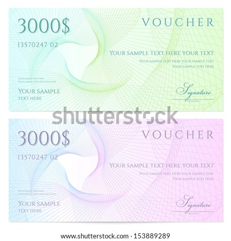 Gift Certificate Voucher Coupon Template Colorful Stock Vector - money coupon template
