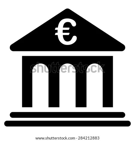 Bank Bicolor Euro Banking Icon Set Stock Illustration - Banken Logo