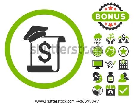 Education Invoice Icon Bonus Elements Vector Stock Vector 486399949