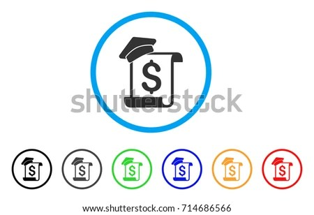Education Invoice Icon Vector Illustration Style Stock Vector