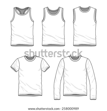 Mens Clothing Set Blank Templates Tshirt Stock Vector (Royalty Free - blank fashion design templates