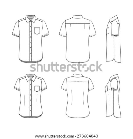 Front Back Side Views Clothing Set Stock Vector (Royalty Free - blank fashion design templates