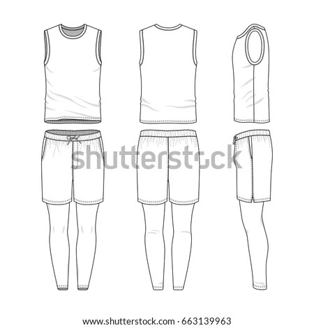 Vector Templates Clothing Set Front Back Stock Vector 663139963 - blank fashion design templates