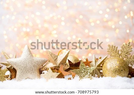 Christmas New Year Gold Theme Background Stock Photo (100 Legal - christmas theme background