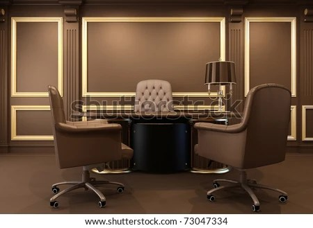 Classic 3d Desktop Workplace Wallpaper Boss Office Stock Images Royalty Free Images Amp Vectors
