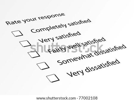 Survey Form Customer Satisfaction Response Stock Illustration - survey form
