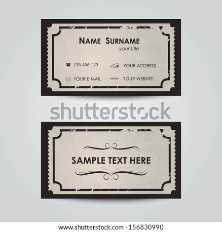 Blank Ticket Stock Images, Royalty-Free Images \ Vectors - blank ticket template