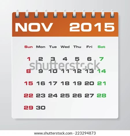 Simple 2015 Year Vector Calendar Free Stock Vector 223294873 - sample 2015 calendar